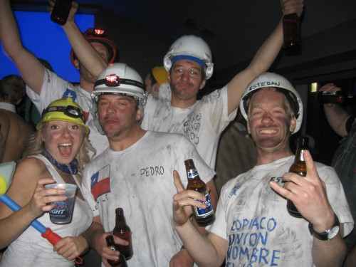 The Chilean miners were a hit theme this year.