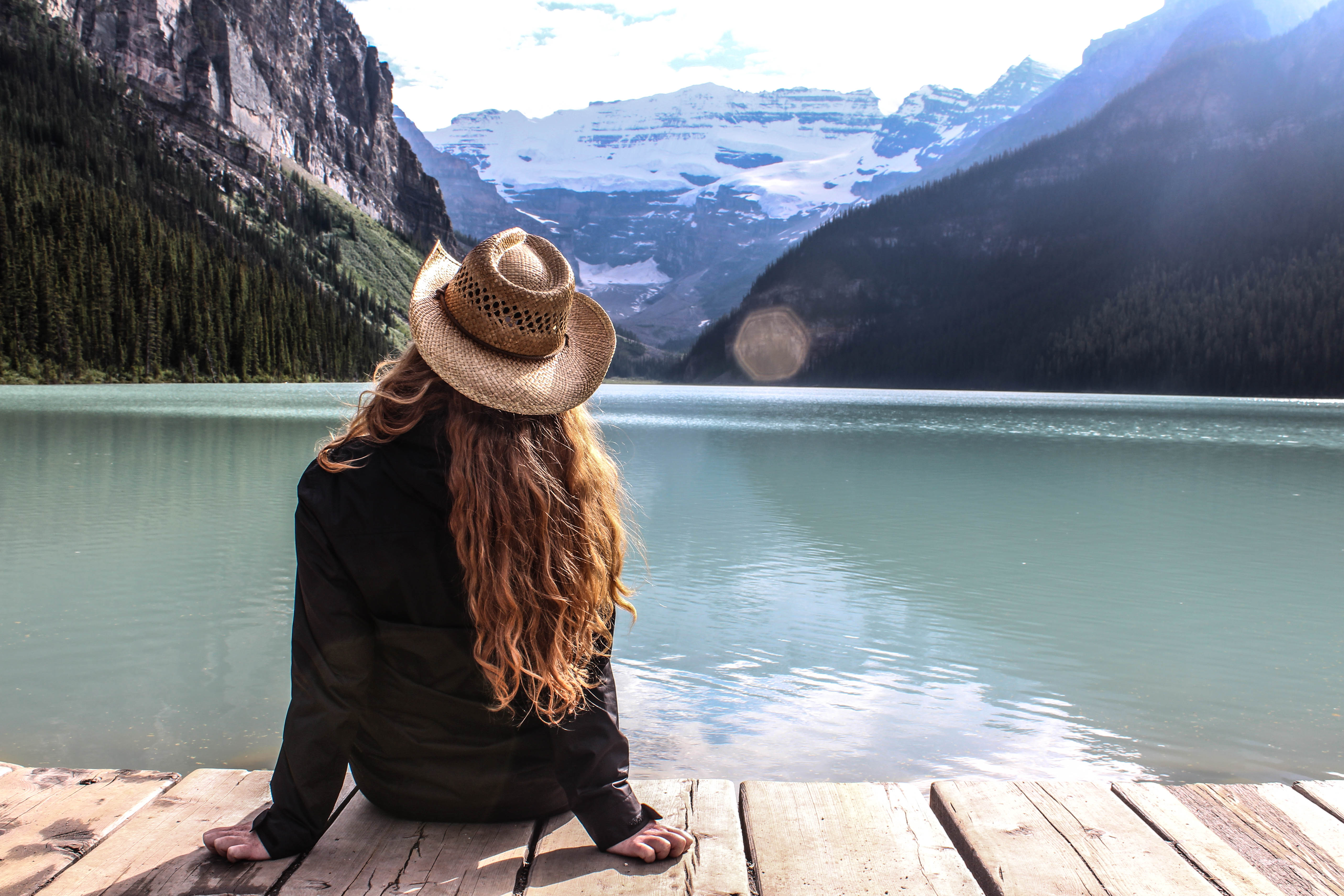 Candice at Lake Louise