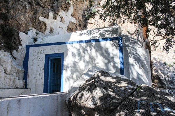 A church along Ancient Thera