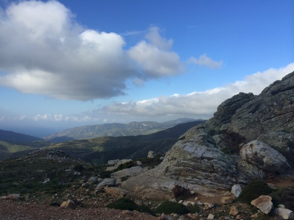 The drive to Samaria Gorge