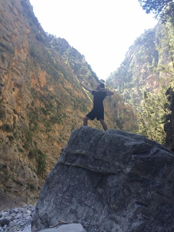 Matt at Samaria Gorge