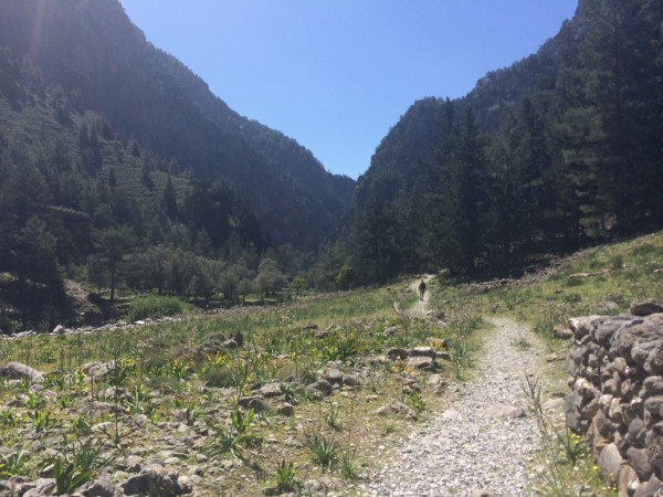 The route through Samaria Gorge