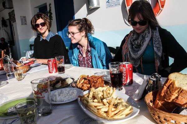Good eatin' on Santorini