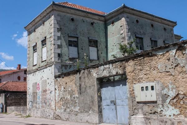 Bullet holes in Mostar