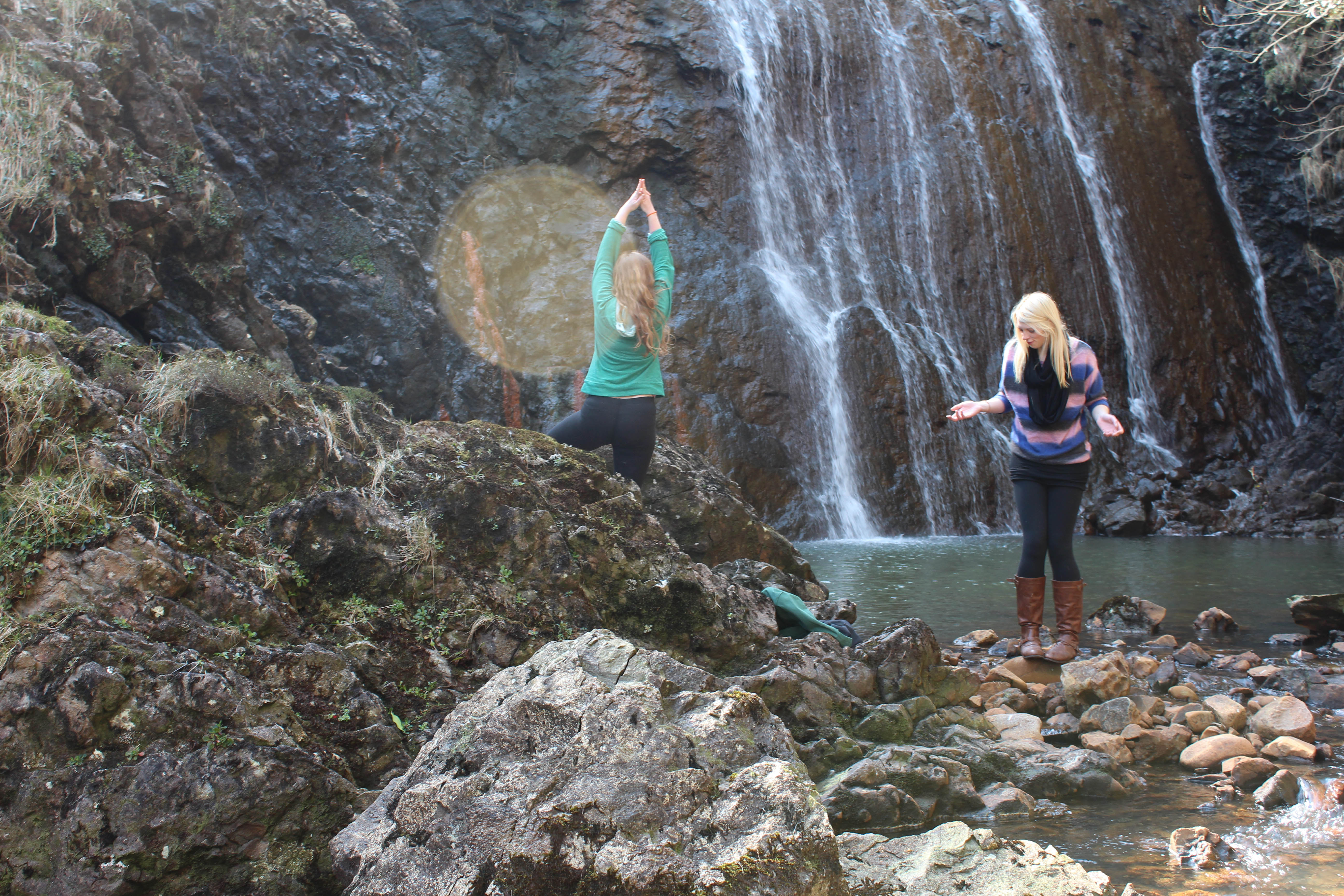 Douchebag waterfall shot