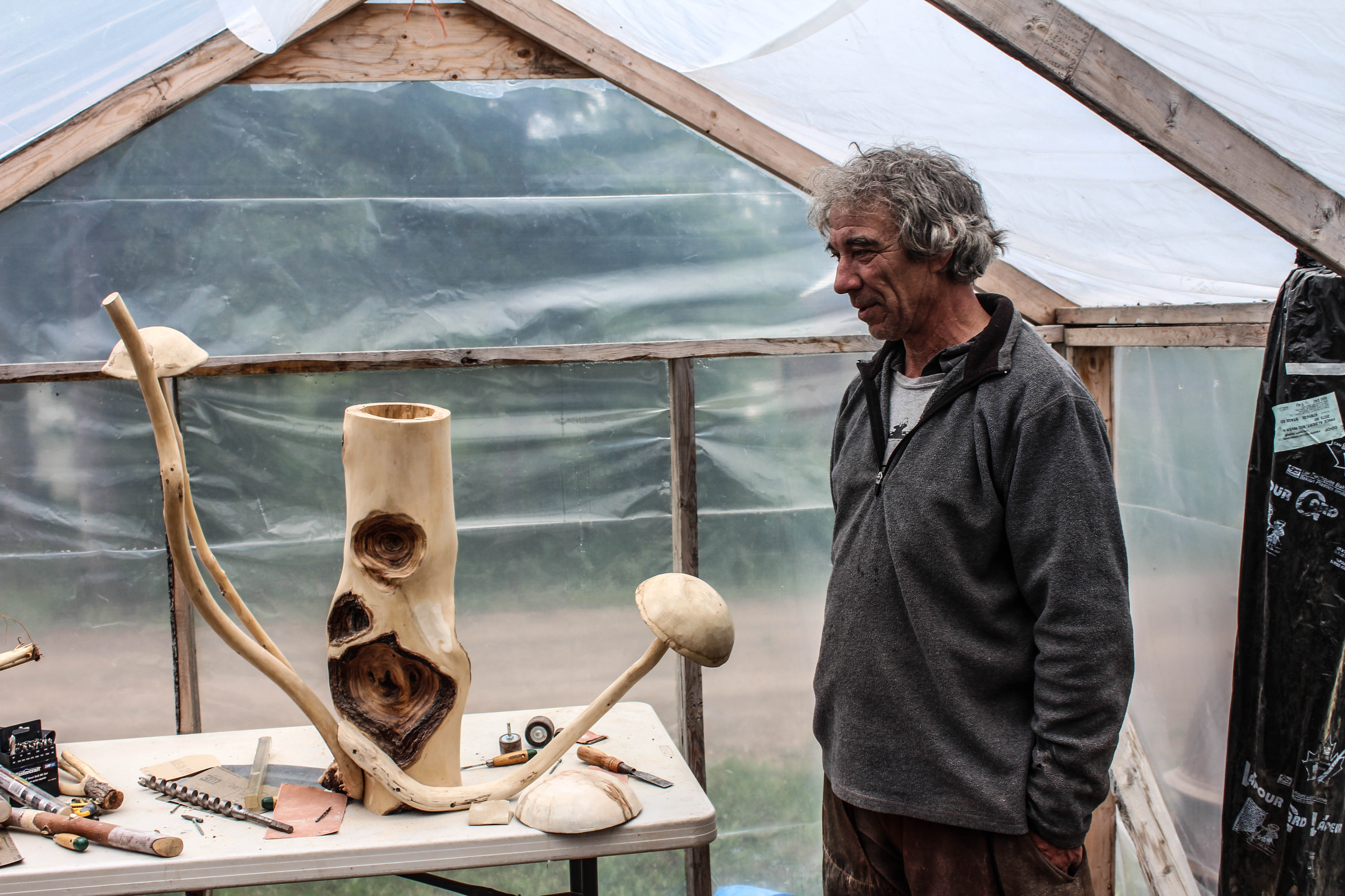 Gilles and his sculptures