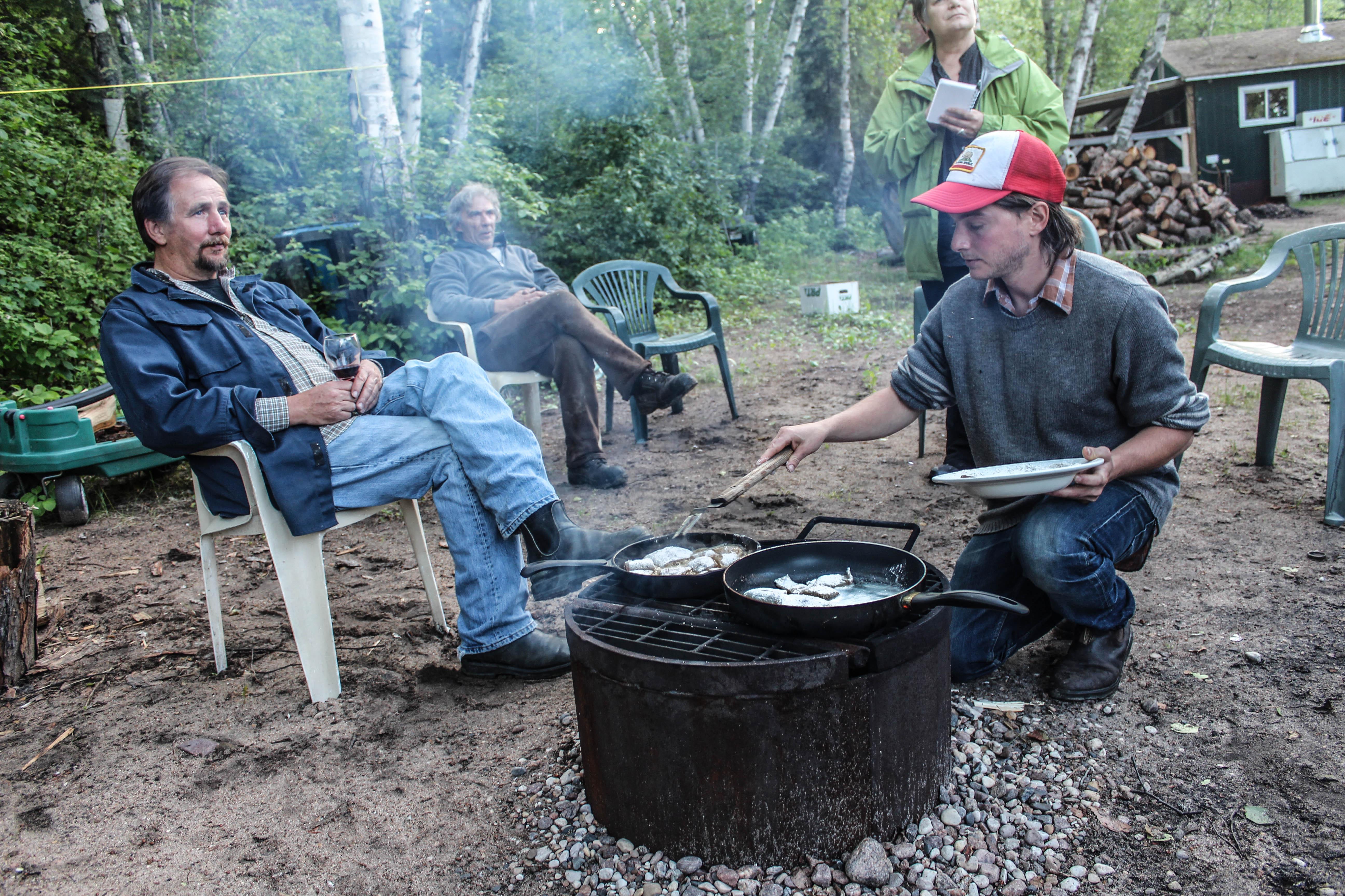 A fish fry and camping at nesslin lake saskatchewan for Fish lake camping