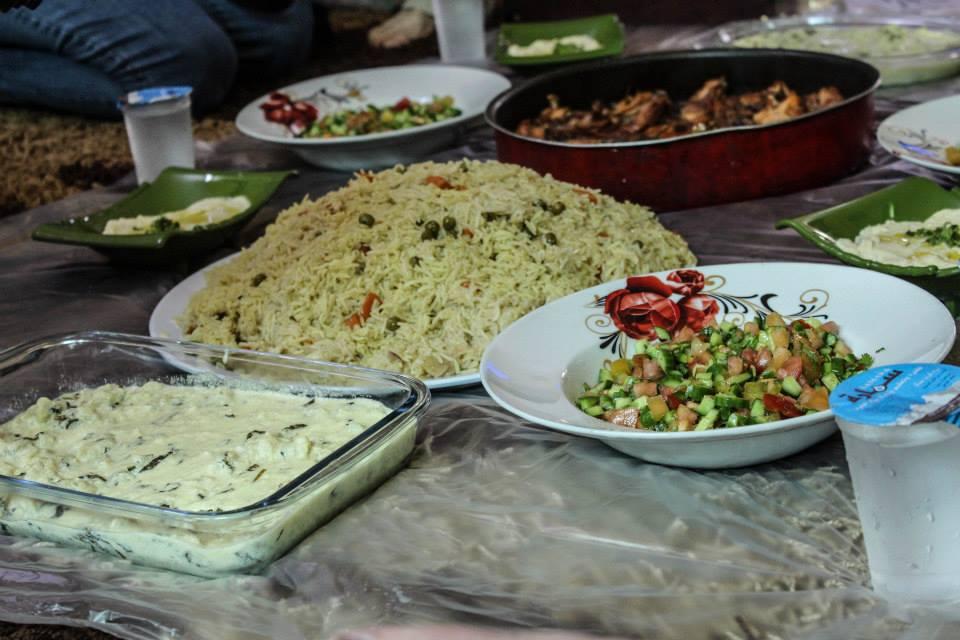 Dinner with a Jordanian family