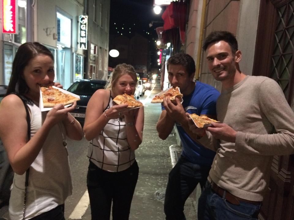 Pizza in Sarajevo