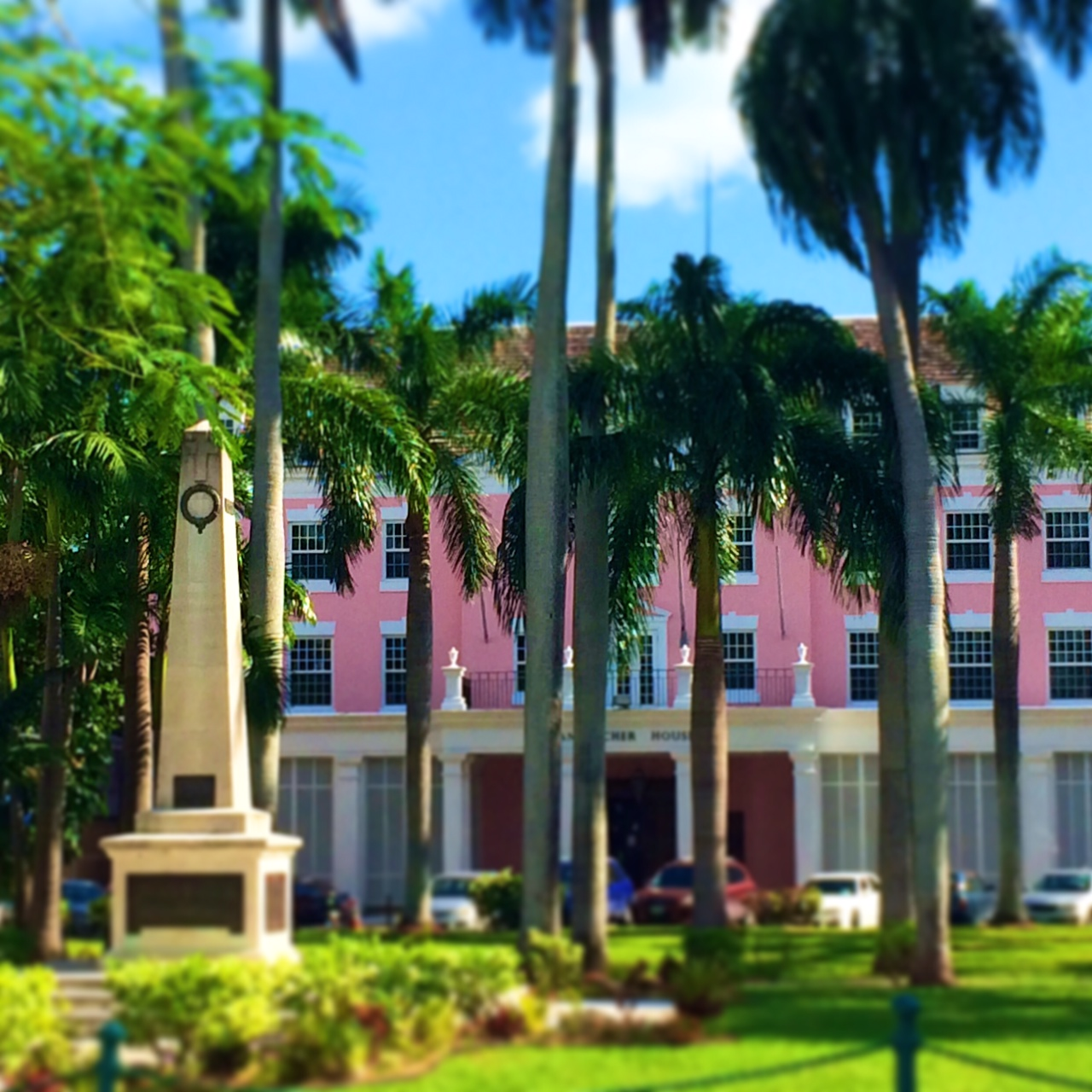 A pink building in Nassau