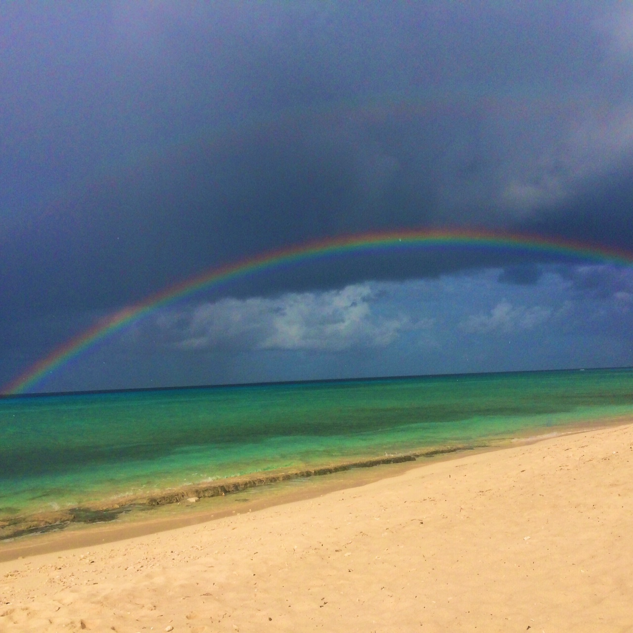 A rainbow in Turks and Caicos