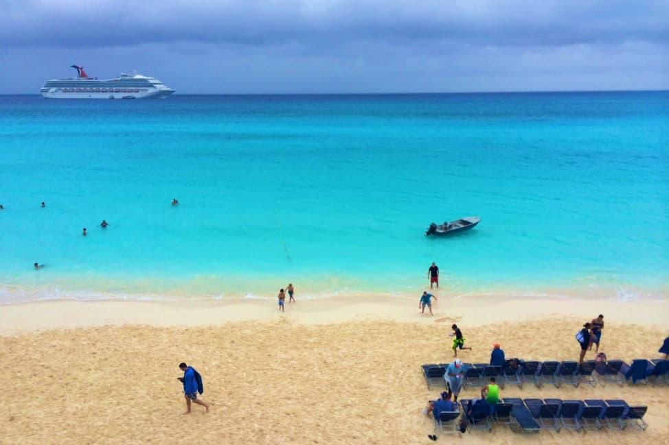 Beach at Half Moon Cay, Bahamas.