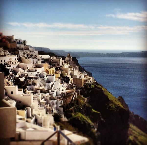 Arrinving in Santorini