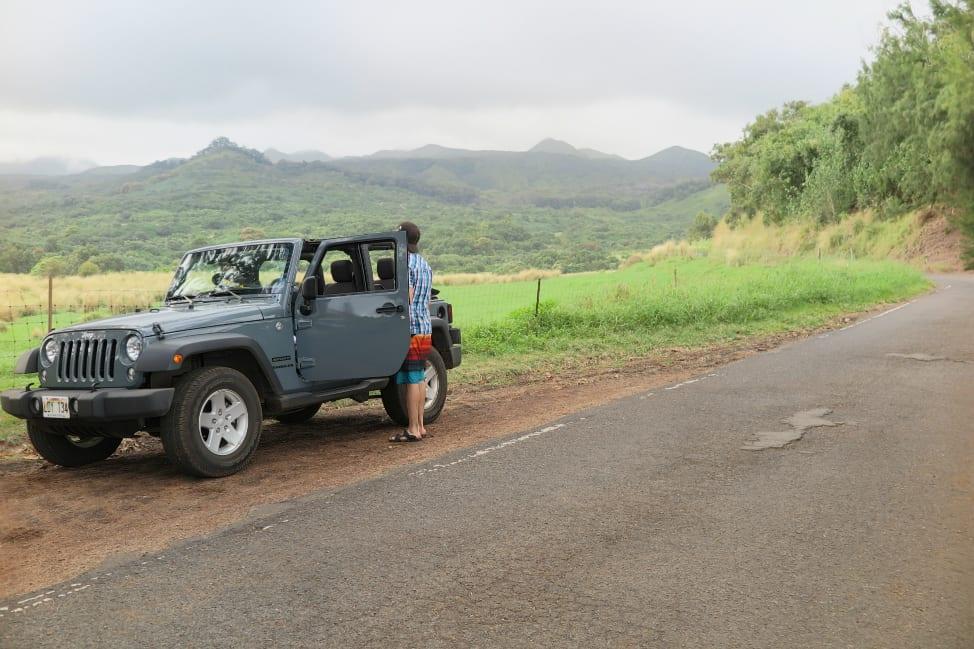 Taking a break on the road to Hana