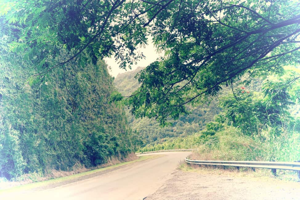 A winding road on the way to Hana