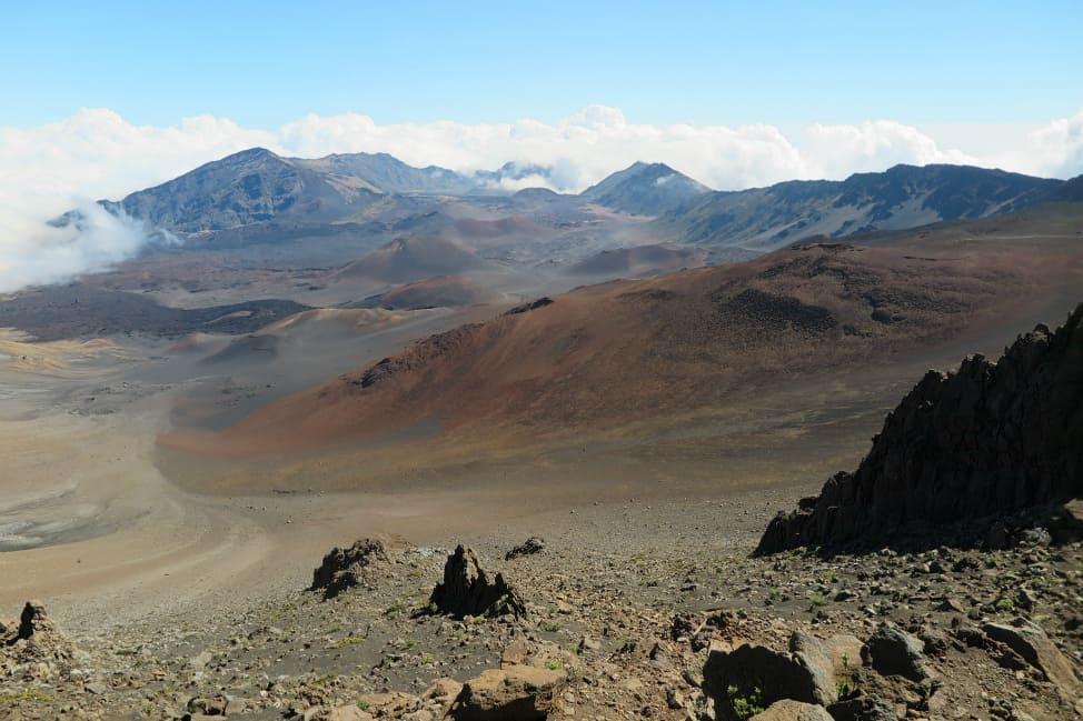 Lunar landscape on Haleakala Volcano