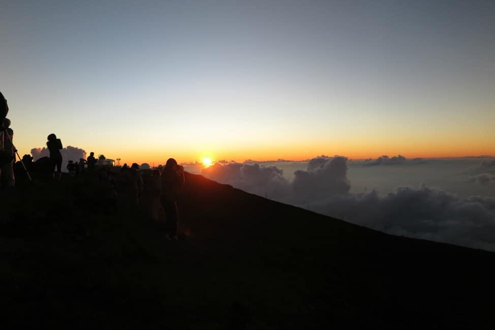 Sunset over Haleakala Volcano