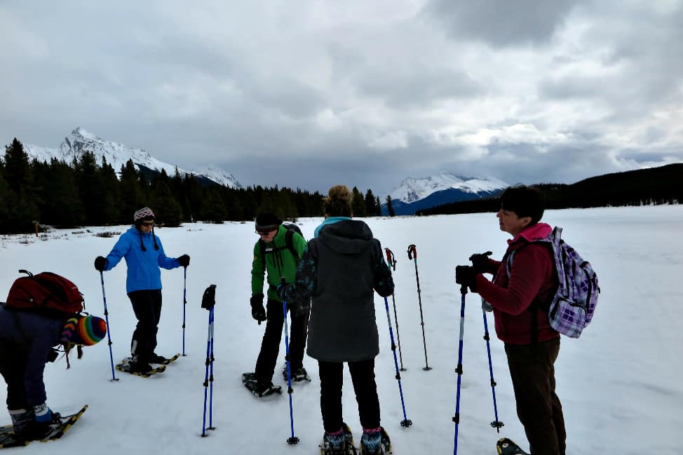 Snowshoeing in Jasper