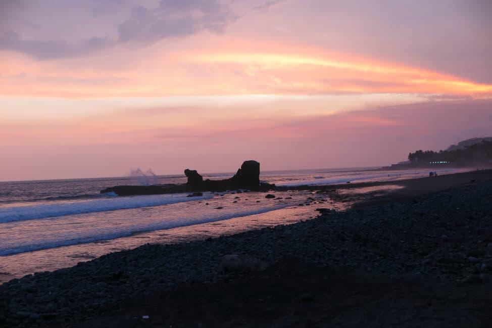 El Tunco at sunset