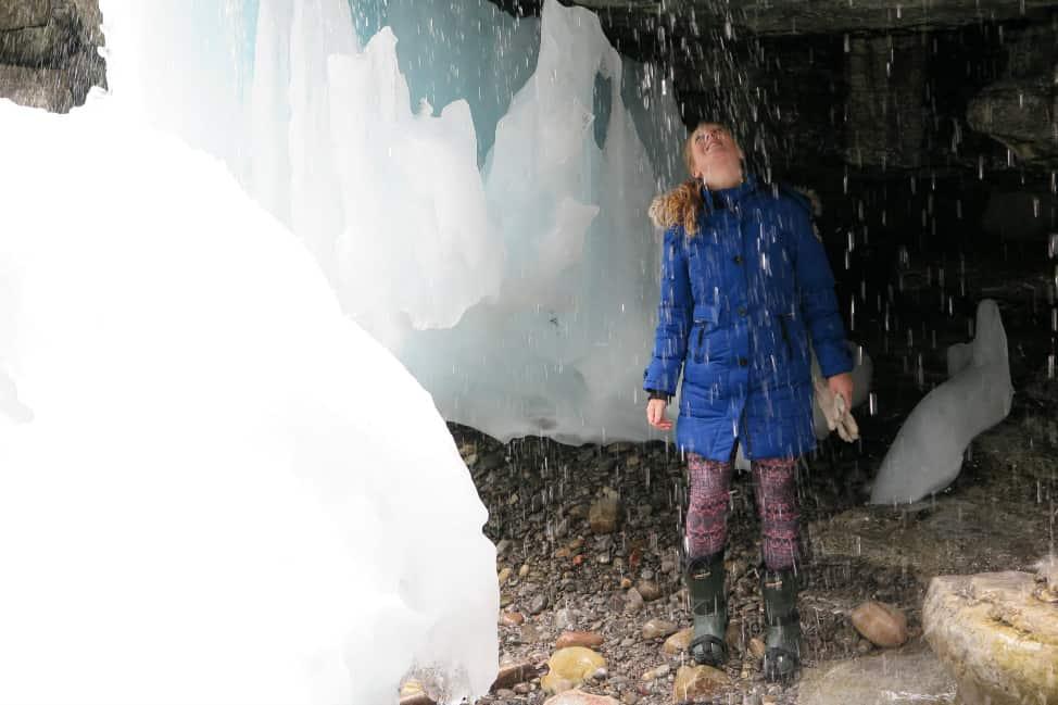ice hiking in jasper