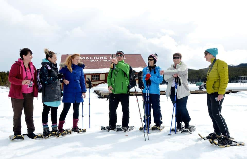 snowshoeing at jasper prid