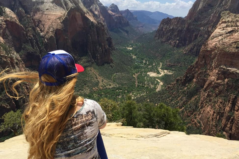 Sitting atop Angel's Landing
