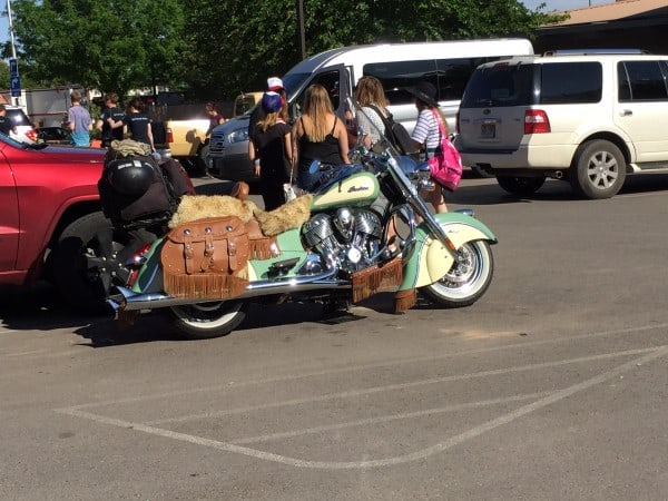 funky motorcycle in moab