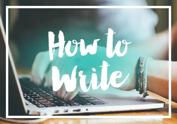 posts on how to write