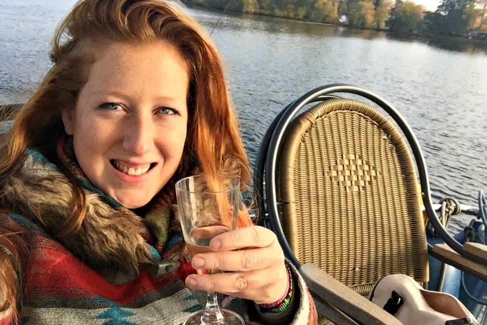 Enjoying some bubbly in Potsdam