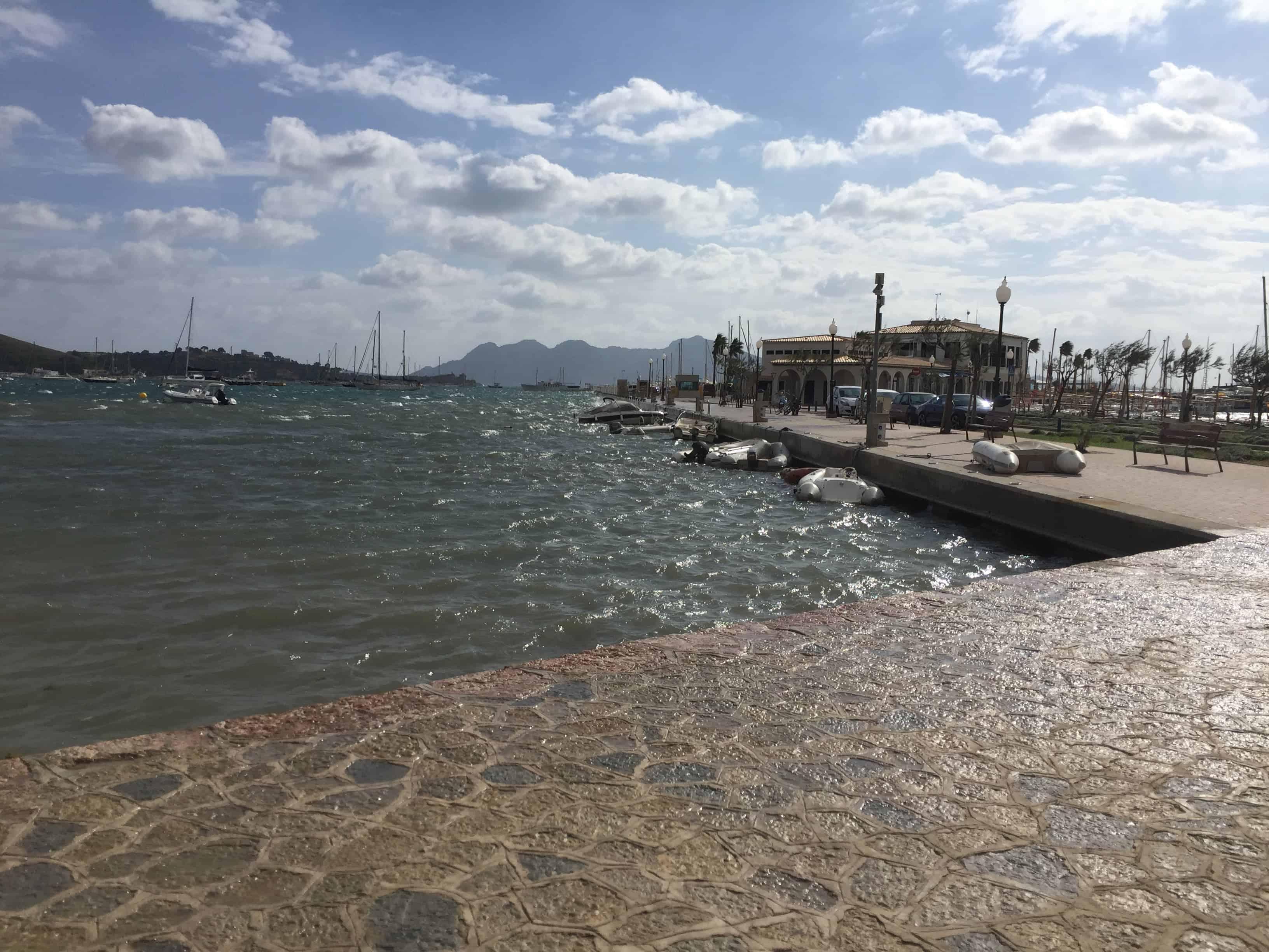 High winds in Puerto Pollenca