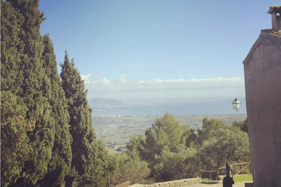 The view from the monastery in Pollenca