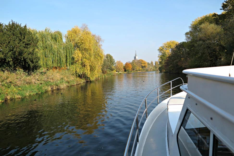 Navigating the waterways around Potsdam