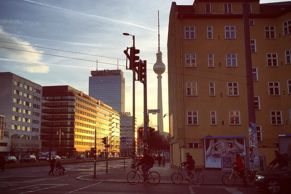 What I love about Berlin: All the cyclists.