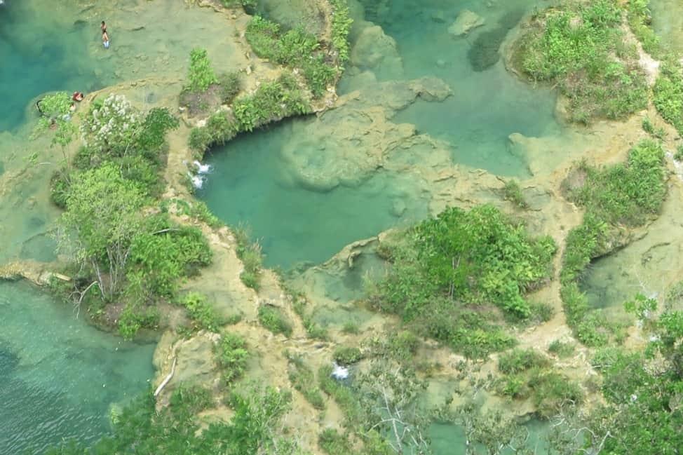 The pools at Semuc Champey.