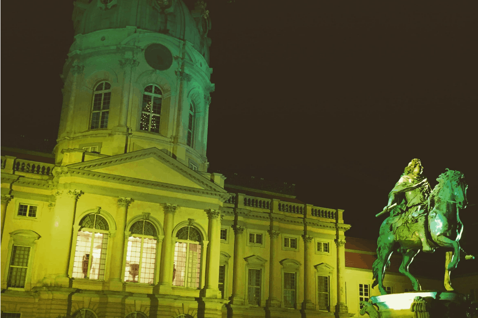 Schloss Charlottenburg in all its Christmas colours