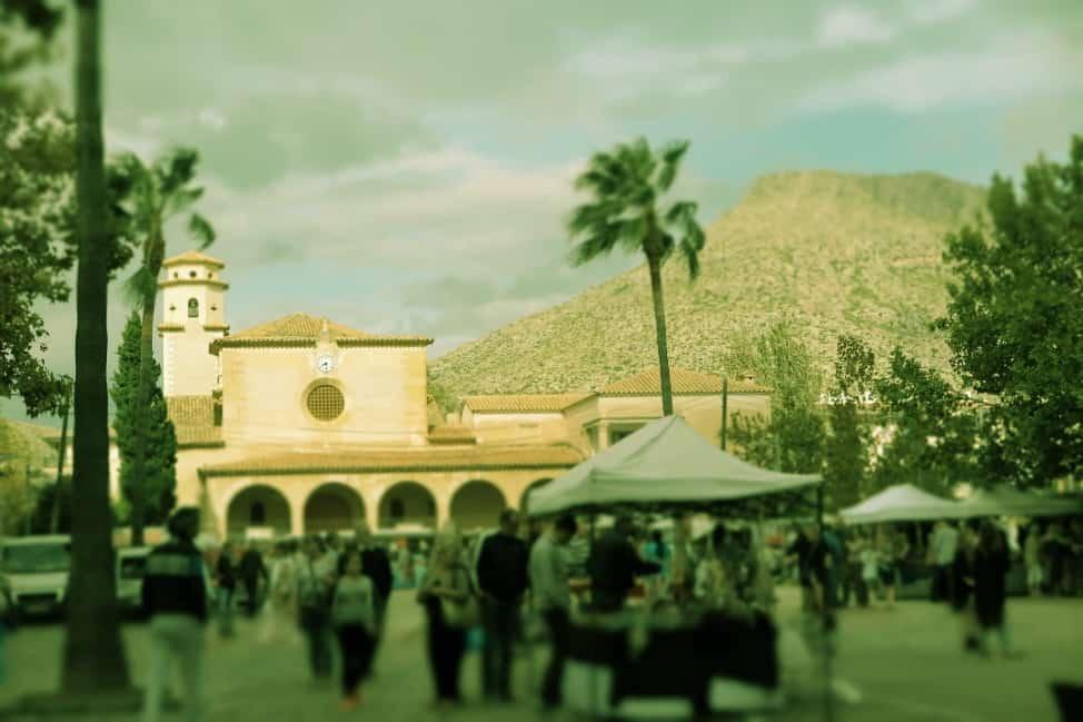 the market in Mallorca