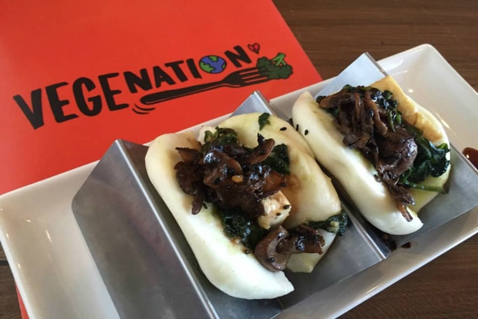 Bao buns at VegeNation, Vegas