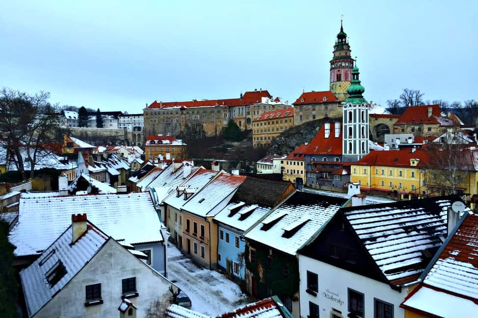 Cesky Krumlov view from bridge