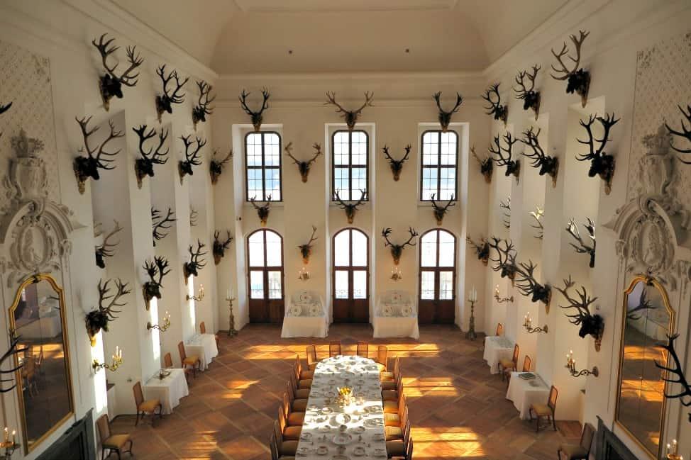 Inside Moritzburg Castle