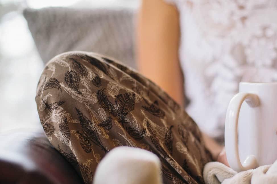 date a girl who sits around in fleece pyjamas watching netflix