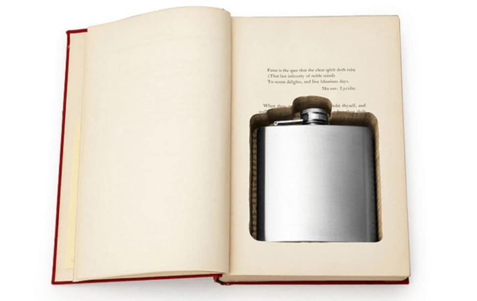 a book that hides a flask