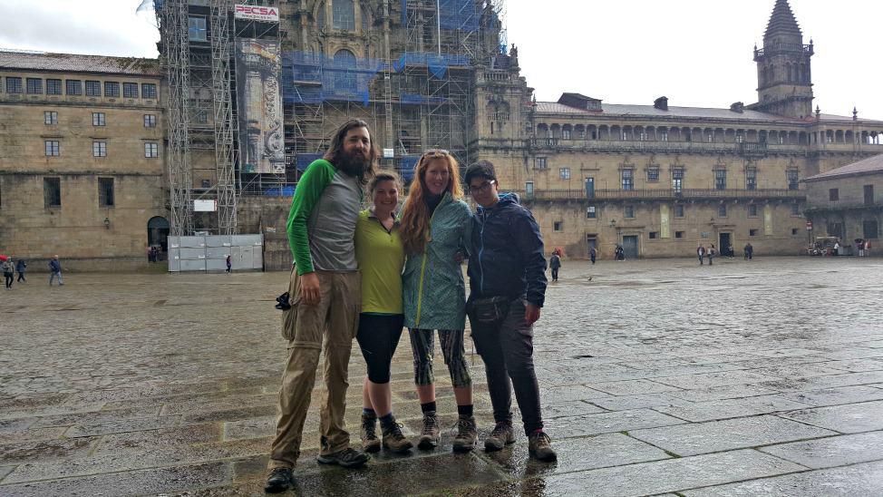 Standing in front of Santiago de Compostela