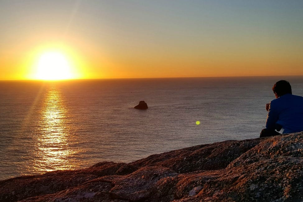 sunset at Finisterre