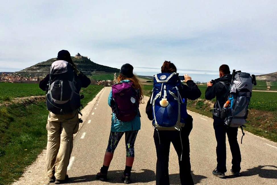taking photos on the camino