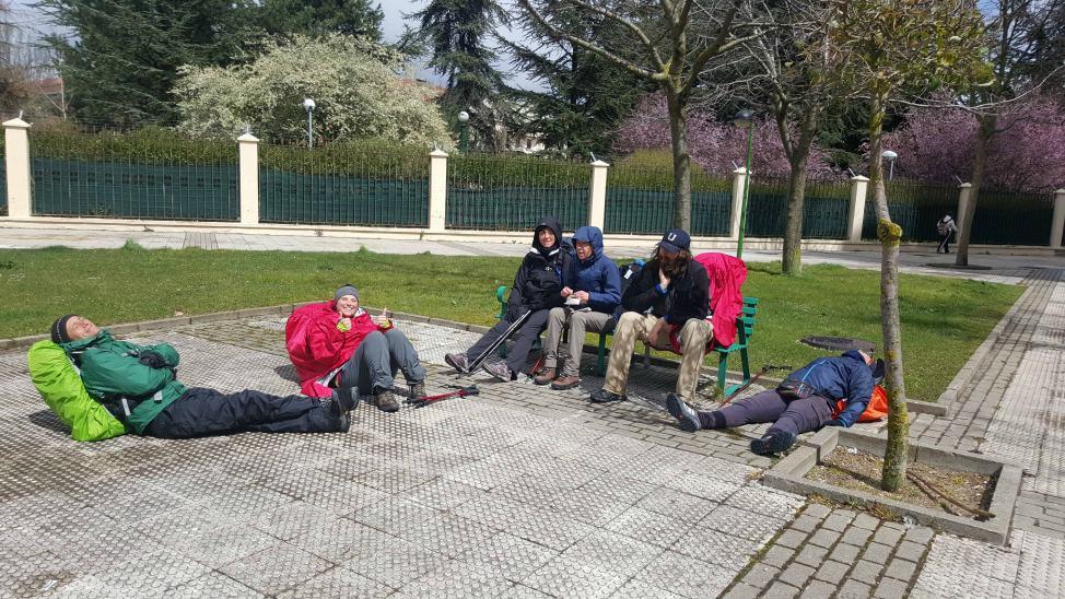 happy Camino walkers