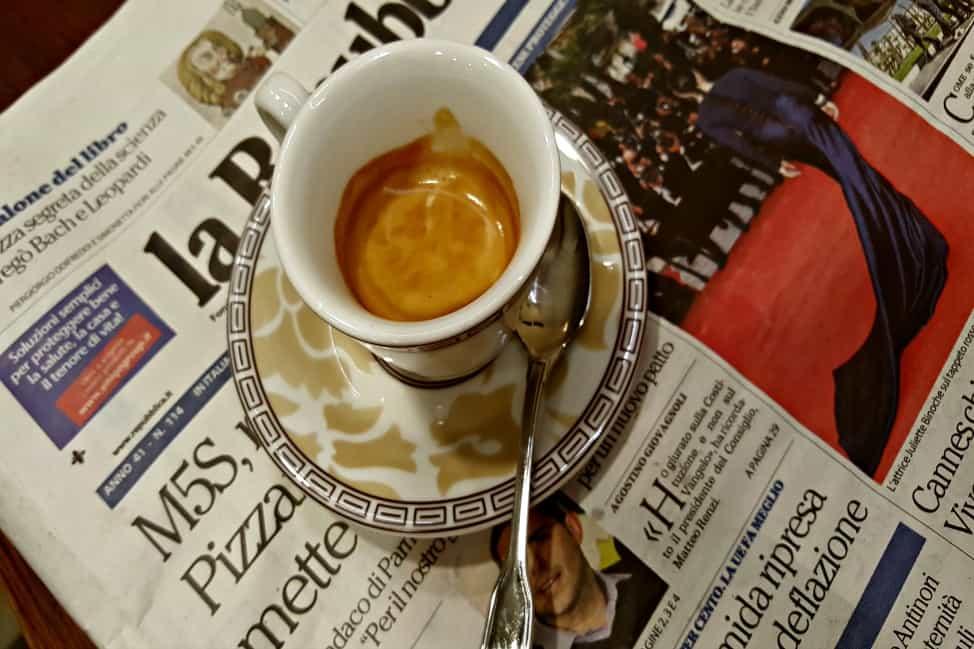 Italian espresso is serious business.