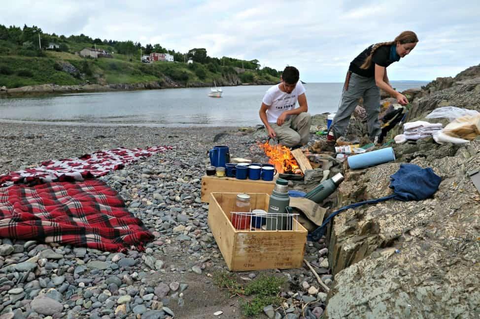 Beach boil up