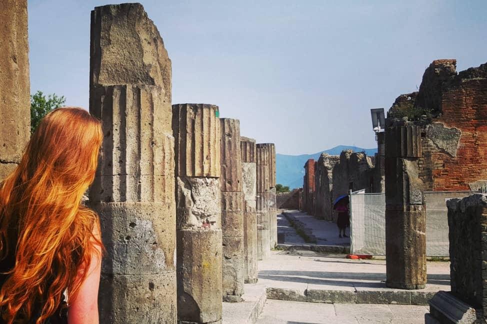 Token introspective shot at Pompeii.
