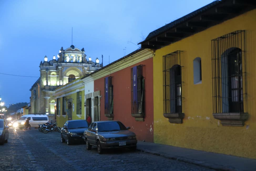Night out in Antigua, Guatemala