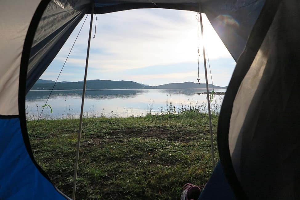 Morning in Tent City